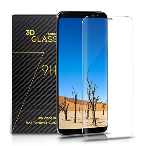 Samsung Galaxy S8 Panzerglas – SURWELL S8 Schutzfolie [1-Pack] 3D Full Coverage 99% Transparenz Full HD für Samsung Galaxy S8 (Transparent)