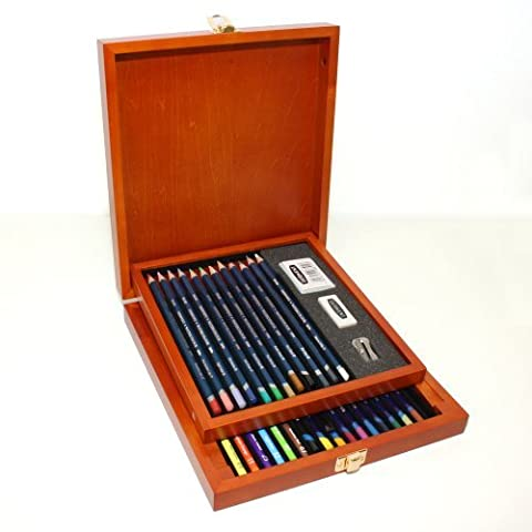 Derwent Watercolour Collection Wooden Box by Pencils & Pastels