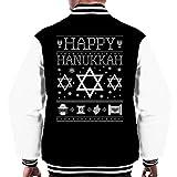 Happy Hanukkah Star Of David Knit Men's Varsity Jacket