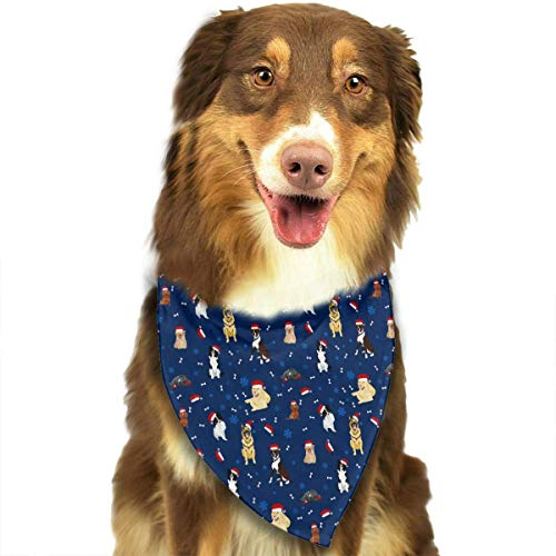 Extra Hunde Große Santa Kostüm - nxnx Dogs in Santa Hats Triangle Bandana Scarves Accessories for Pet Cats and Dogs - Gifts