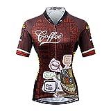 Thriller Rider Sports Damen Coffee Sport & Freizeit MTB Fahrradbekleidung Radtrikot Large