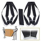 Juego de correas de elevación con almohadillas de hombro - Arnés de transporte de peso - cinturón Dolly para 2 personas para mover muebles - Levantamiento de peso, herramienta ergonómica - Ergogo