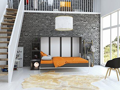Schrankbett Querbett SMARTBETT Murphy Bed Foldaway Bed Klappbett 140 x200 Horizontal Pflaume Wallis - 2