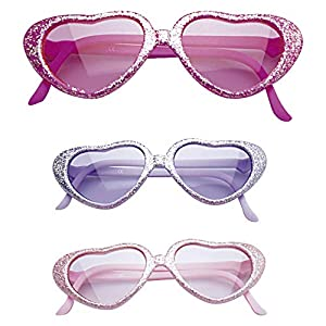 WIDMANN Gafas con Lentejuelas y Mucho Glamour para niña - Violeta