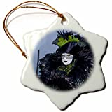 3dRose orn_82084_1 Italy, Venice, Carnival Festival Costumes EU16 BJA0794 Jaynes Gallery Snowflake Ornament, Porcelain, 3-Inch