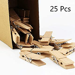 EasyBravo 25Pcs Large Wooden Clothepins, 7.2cm Long 1.8cm Wide, Sturdy and Heavy Duty Laundry Pegs