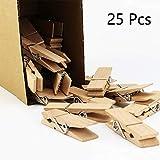 EasyBravo 25Pcs Grandi Mollette in Legno, 7,3 cm di Lunghezza 1,8 cm di Larghezza,Clips robuste e Resistenti