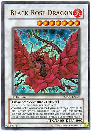 YuGiOh 5D's Crossroads of Chaos Black Rose Dragon CSOC-EN039 Ultra Rare [Toy] by Yu-Gi-Oh!