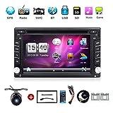mit Kamera. Double DIN 15,7cm Auto GPS Navigation in Dash Car DVD-Player-Stereo Touch Bildschirm mit Bluetooth USB SD MP3Radio für Universal Auto