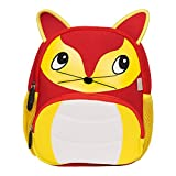 LingoTee Children's Backpack, Cute Baby Child Toddler Backpack Rucksack Durable Waterproof Cartoon School Bag for 2-6 yeas old Boys Girls Preschool-age Kindergarten (Fuchs#5)