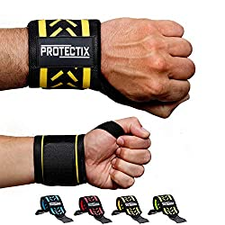 Protectix Wrist Bandages - Wrist Wraps [Set of 2] 45cm wrist bandage for weight training, crossfit, fitness & bodybuilding - suitable for women and men