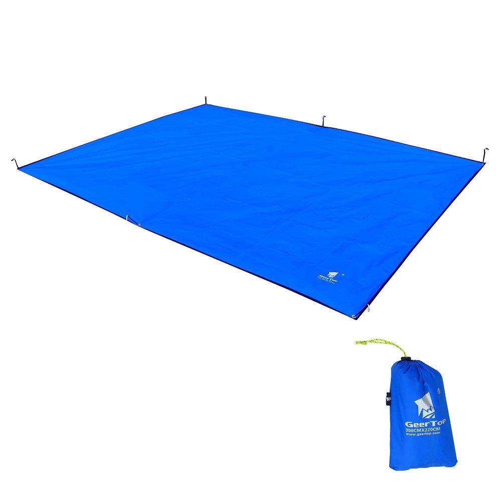 Talla 300 x 220 cm Lona para Tiendas de Campa/ña Senderismo Campamento Picnic Esterilla 4-5 Personas Azul 600g GEERTOP Oxford Toldo Tarp Impermeable de Lona