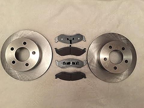 Alpha freins avant Disques de frein + Plaquettes de frein 520050005252531Jeep Wrangler Yj & TJ 1990?1999