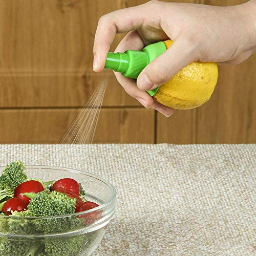 Yamybox 2PCS Orange juice squeeze manual juicer kitchen manual lemon sprayer juice squeeze citrus spray hand tool kitchen cooking tool gadget,2pc pink
