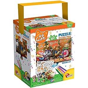 LISCIANI-44 Gatti Puzzle, Multicolor (76598)