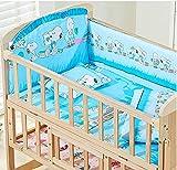 Neugeborenen Krippe Solid Keine Farbe Holz Baby Cradle Rocking Bett Mit Bunten Bettwäsche-Sets Von 6.120 * 70 cm,Snoopy