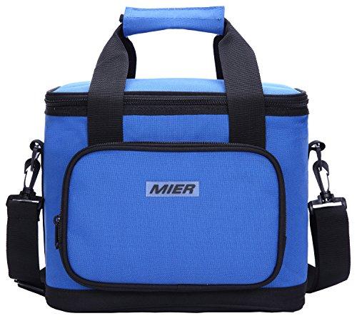 Mier picnic borsa termica grande borsa termica per il pranzo per uomini e donne, 20 can navy blue