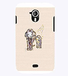 PrintVisa Animal Quotes 3D Hard Polycarbonate Designer Back Case Cover for Micromax Canvas HD A116