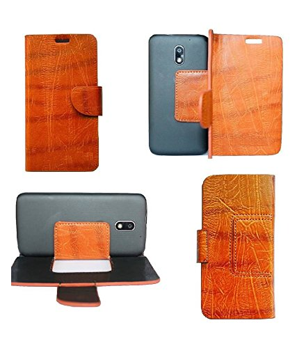 Zocardo TM© Faux Leather Unique Design Wallet Diary Flip Cover Case for Huawei Honor Holly U19 - Brown - Premium Cover with Inner Pocket  available at amazon for Rs.429