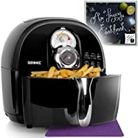 Duronic Air Fryer AF1 /B 1500W Multicooker Mini Oven - Black - Recipe Book Included - Healthy Cooker Food Oven