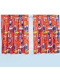 Prodotto originale Sam il pompiere UOMO/the pompiere allarme 2 pcs PRONTA DA-tende/tende-set per 183 cm di lunghezza e 168 cm larghezza nuovo 2013 rosso