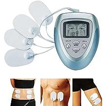 NBD® Electroestimulador digital, masajes multiusos la máquina Adelgaza el Masajeador electrónico, ideal para el manejo del dolor y rehabilitación con 10 Modos y 4 almohadillas. Masageador de pulso e impulso para el tratamiento de estrés en el cuello y el dolor ciático muscular.