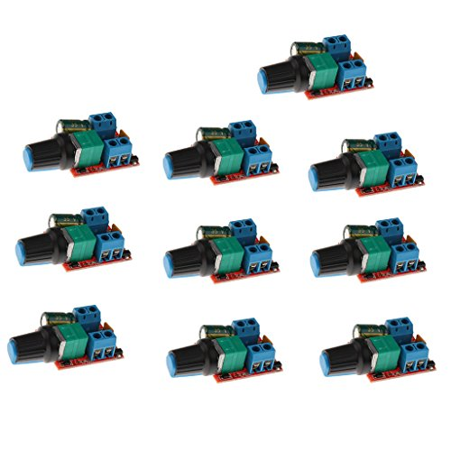 Almencla 10x Mini 5A Motor PWM Drehzahlregler Dc 3v 35v Drehzahlregler LED Dimmer -