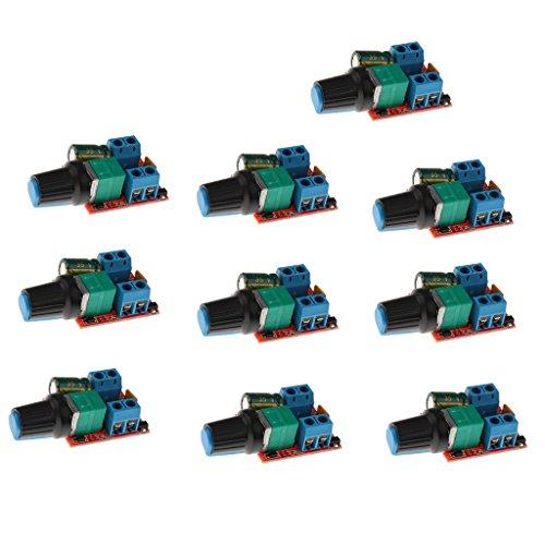 MagiDeal 10x Mini 5A Motor PWM Drehzahlregler Dc 3v-35v Drehzahlregler LED Dimmer (Miniatur-dc-motor)