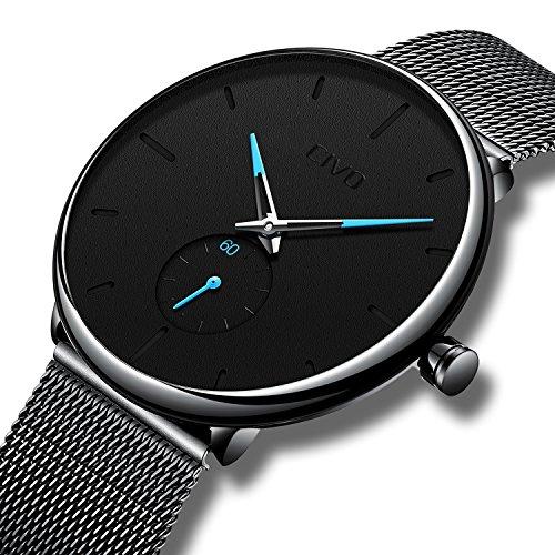 Civo orologio da uomo ultra sottile minimalista lusso moda orologi da polso per uomo attività commerciale vestito casuale impermeabile orologio al quarzo per uomo con fascia in acciaio inossidabile ne