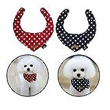 Petacc 2Pcs Hunde Dreieckstuch Hunde Dreieck Halstuch für Kleine Hunde