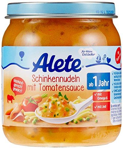 Alete Schinkennudeln mit Tomatensauce, 6er Pack (6 x 250 g)