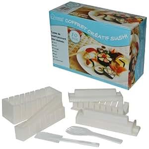 Coffret Créatif Cuisine Sushi 10 Pièces Moules Multiformes