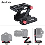 Andoer Z-shaped Aluminum Alloy Tilt Head Foldable Camcorder Desktop Holder Quick Release Plate
