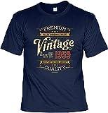 Herren Geburtstag T-Shirt - 60 Jahre - 100% Premium Vintage seit 1959 - lustige Shirts 4 Heroes Geschenk-Set Bedruckt mit Urkunde