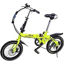 Riscko Super Bike Bicicleta Plegable Unisex de 16 (Verde Flúor)