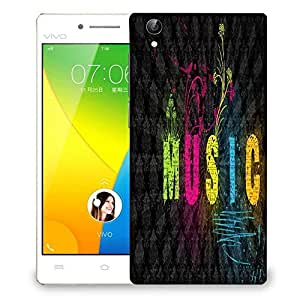 Snoogg Music Designer Protective Phone Back Case Cover For Vivo Y51L