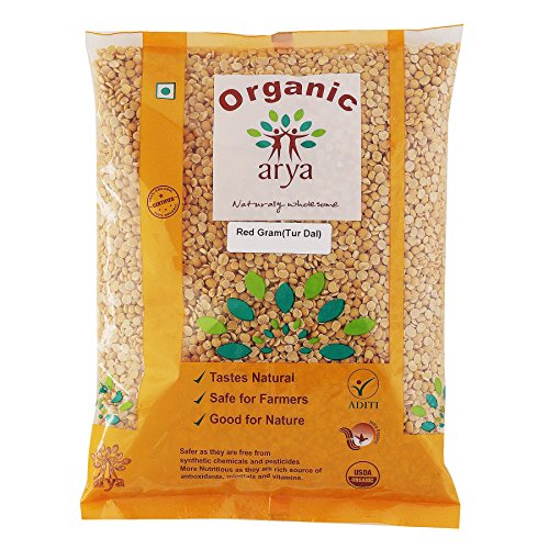Arya Farm 100% Certified Organic Tur Dal 2kgs (Red Gram/Toor / Arhar/Tuvar /Pigeon Pea/Chemicals Free/Pesticides Free/No Added Preservatives)