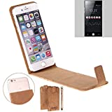 K-S-Trade Cork Case Flip Style Cover for ID2ME ID1,