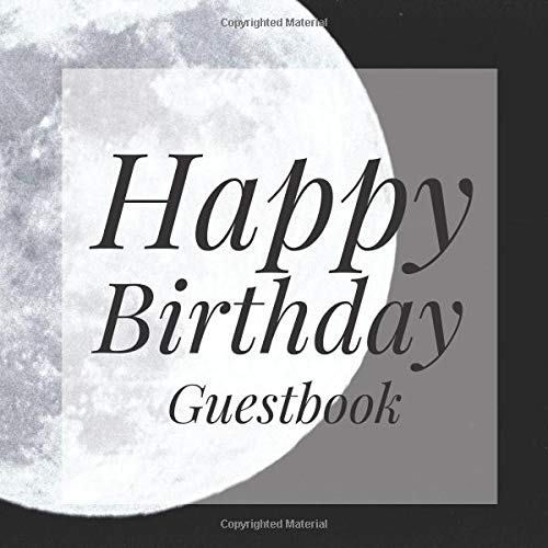 book: Moon Halloween Signing Celebration Guest Book w/ Photo Space Gift Log-Party Event Reception Visitor Advice Wishes Message ... Elegant Accessories Sweet Idea Scrapbook ()
