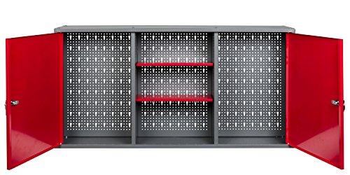Kreher Werkstattschrank aus Metall mit 2 abschließbaren Türen, zwei höhenverstellbaren...