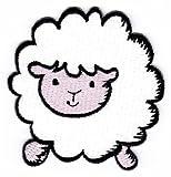 Baby a forma di pecora Sew-distintivo a pressione/iron-on Patch 7 x 7,3 cm