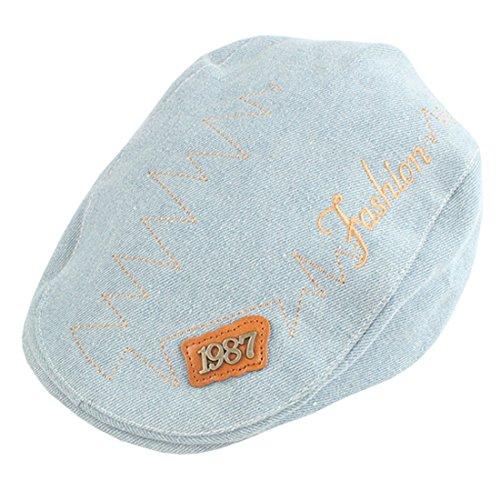 XueXian(TM) Baby Kappe Kinder Unisex Gatsby Schirmmütze Hüte Flat Newsboy Cap(Hellblau)