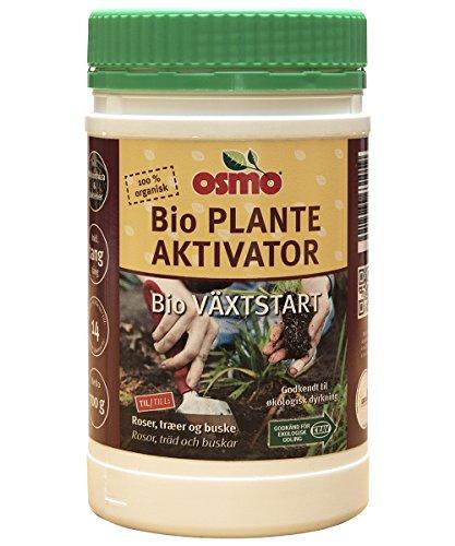 Osmo Bio Plantas Activador con Mykorrhiza 3-3-3 + 3% Mg + 1% Fe 700g Root Booster orgánica. Activador de suelo. Mejorador de suelos para macetas rosas y jardín.
