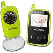 HelloBaby HB24 2.4  Digital Funk TFT LCD Drahtlos Babyphone Wireless Video Kamera Baby Monitor Babyviewer Überwachung Nachtsicht + Temperatursensor