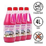 Toilettenzusatz 4 Liter für Camping Toiletten Spülkasten frischer Duft ideal für Wohnwagen, Wohnmobil und Boot