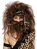 Robingift Smiffy 's–Disfraz de Hombre Crazy Caveman Set Incluye Diadema Peluca Barba Huesos y mechones