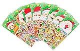Navidad Pegatinas 8 Hojas con Muñeco De Nieve y Renos Niños Papá Noel Pegatinas para Regalos De Scrapbooking Gifts Present