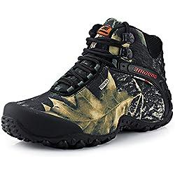 Bota Militar Camuflaje SANANG para Hombres. Ideales para practicar cualquier deporte al aire libre (Botas de senderismo, trekking, etc..)
