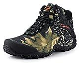 SANANG Hombres Zapatillas de deporte al aire libre Camuflaje Botas de senderismo Zapatos de trekking (44 EU, Gris)
