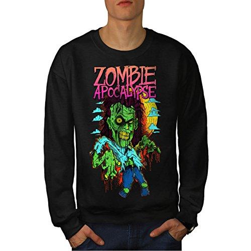 Zombie Apokalypse Horror Herren M Sweatshirt | (Asyl Apokalypse Zombie)
